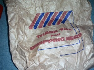 Thank you for shopping here butchers bag